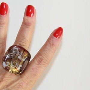MURANO OF ITALY Jewelry - Gorgeous Murano of Italy Glass Ring.
